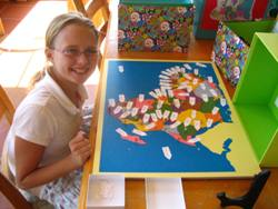 girl completes africa map
