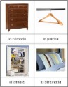 Spanish Nomenclature Cards - Bedroom