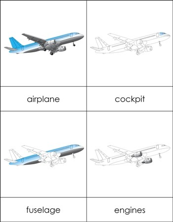 Parts of an Airplane Nomenclature Cards
