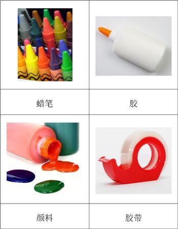 Chinese Art Supplies Nomenclature Cards