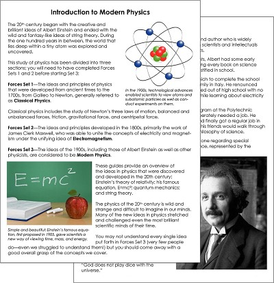 Forces Set 3 - Modern Physics
