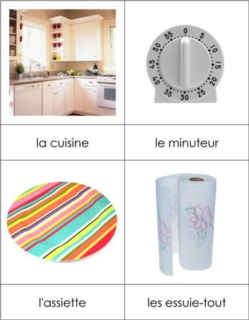 French Nomenclature Cards - Kitchen