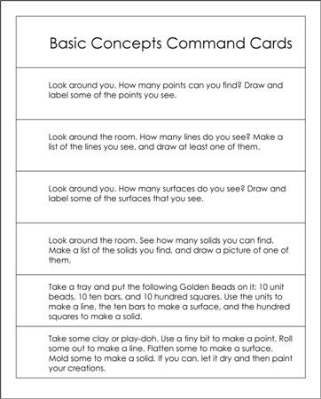 Geometry Command Cards
