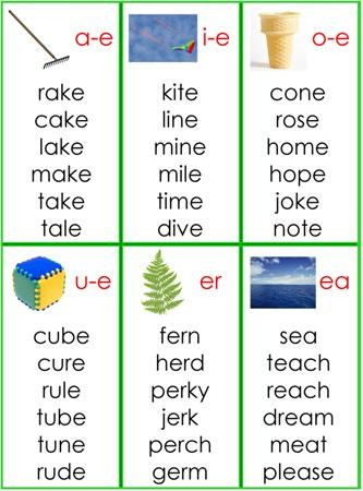 Green Series Word Lists