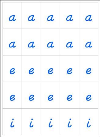 Movable Alphabet - Handwriting Blue and Red